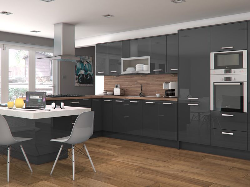 Altino Graphite Kitchens Kitchen Units At Trade Prices Nouvelle Construction