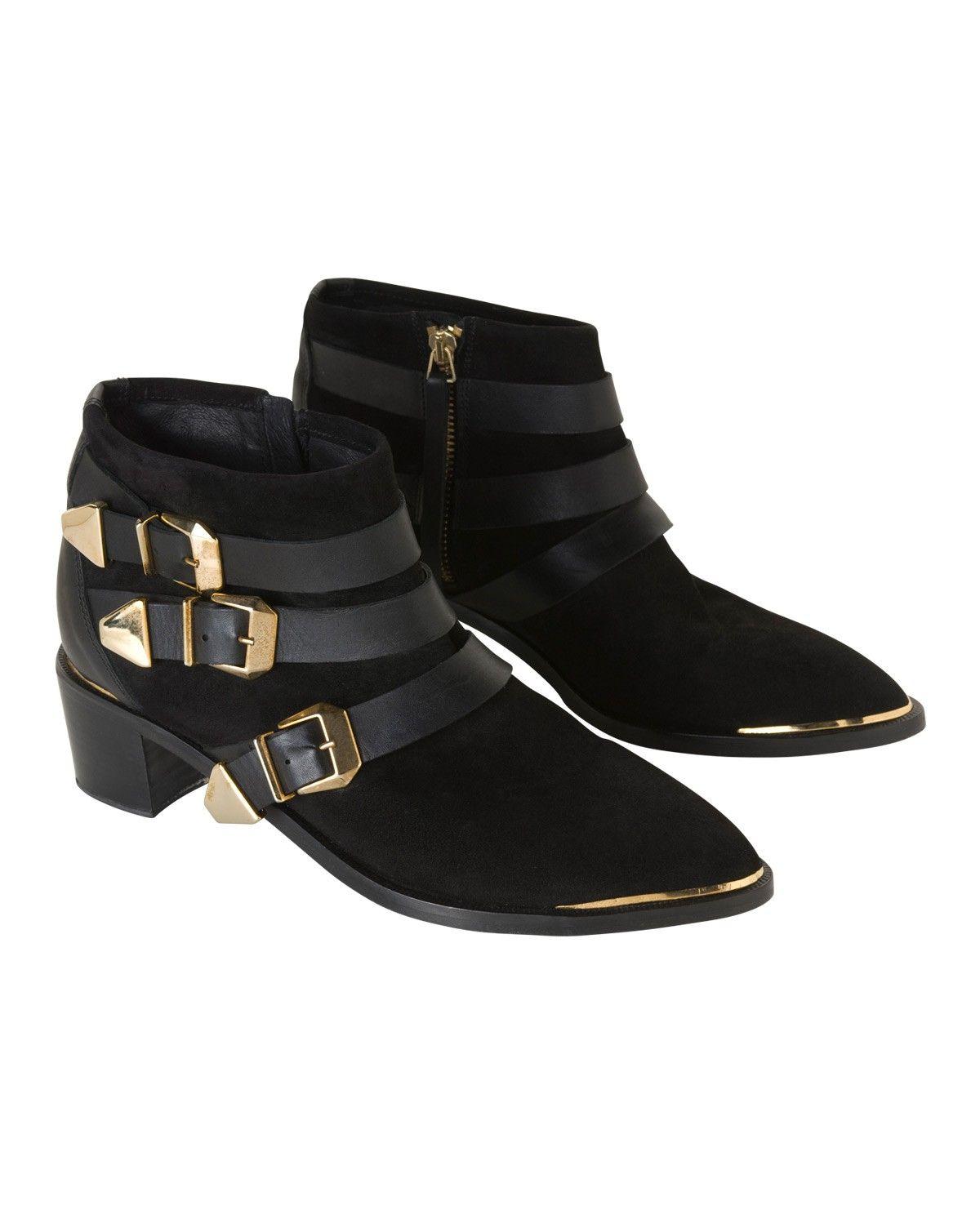 the kooples low boots avec boucles - chaussures - femme | shoes