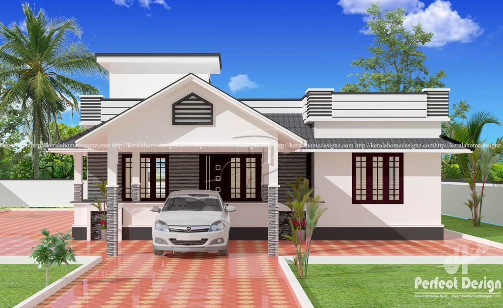 25 Lovely And Modern House Design With Floor Plans Trending House Ofw Info S In 2020 Kerala House Design Modern Bungalow House House Front Design