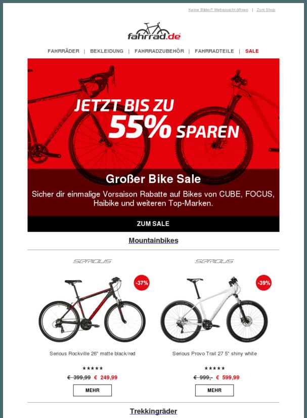 Großer Bike Sale Bis 55 Über 600 Bikes SportOutdoor