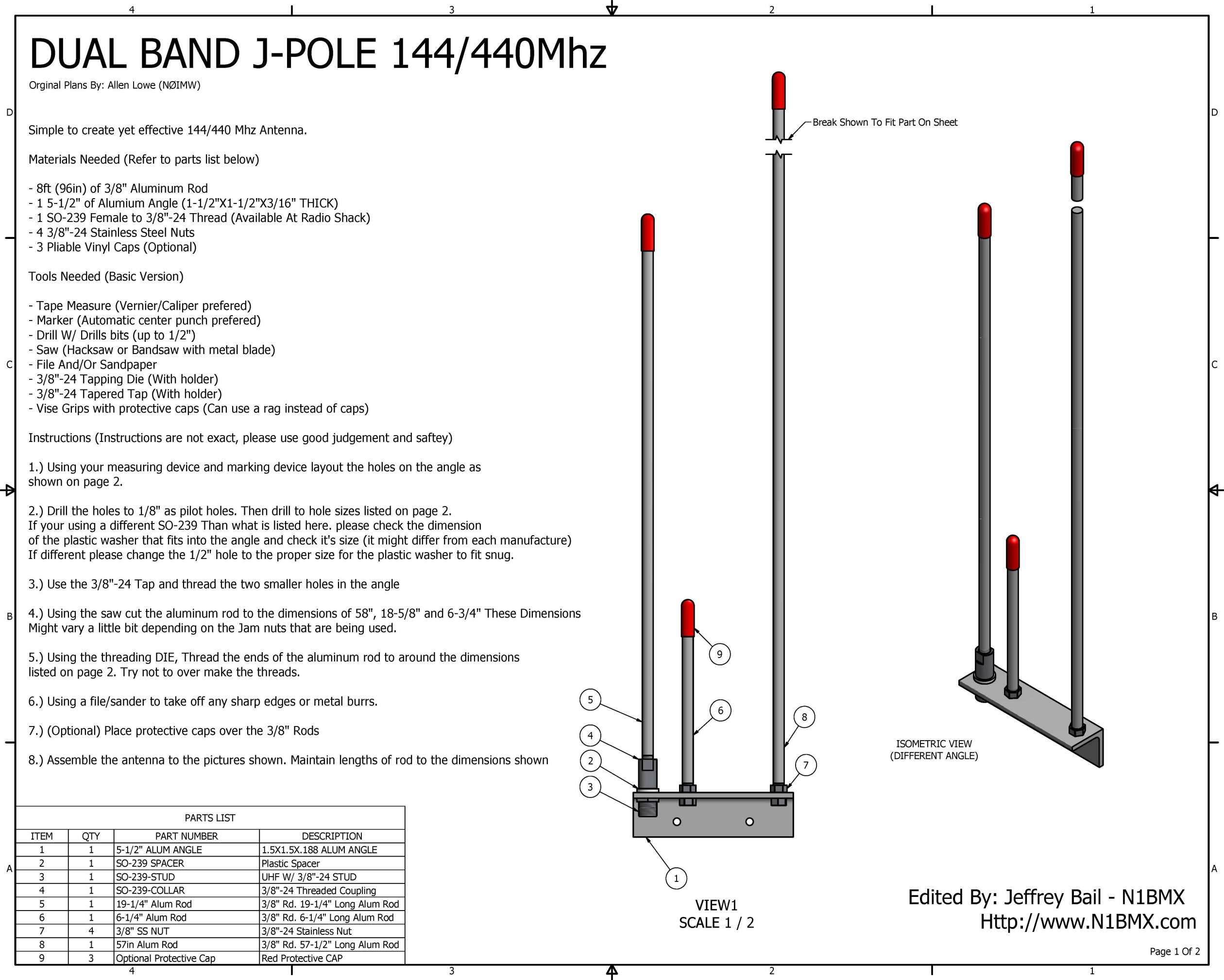 Ive Constructed A 144 440 Dual Band Open Stub J Pole Antenna I Saw July 2012 Circuitsprojects The Plans For This On Internet Link To By Allen Lowe N0imw