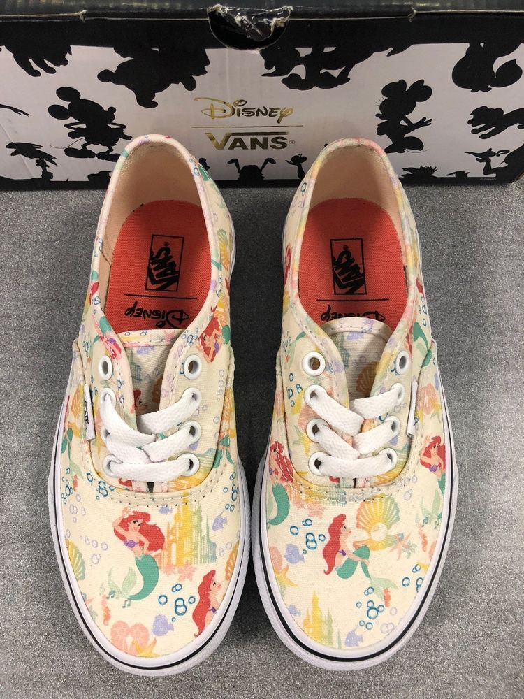 a68d81ab714b1 New With Box Vans Disney Little Mermaid Authentic Shoes Youth Size ...