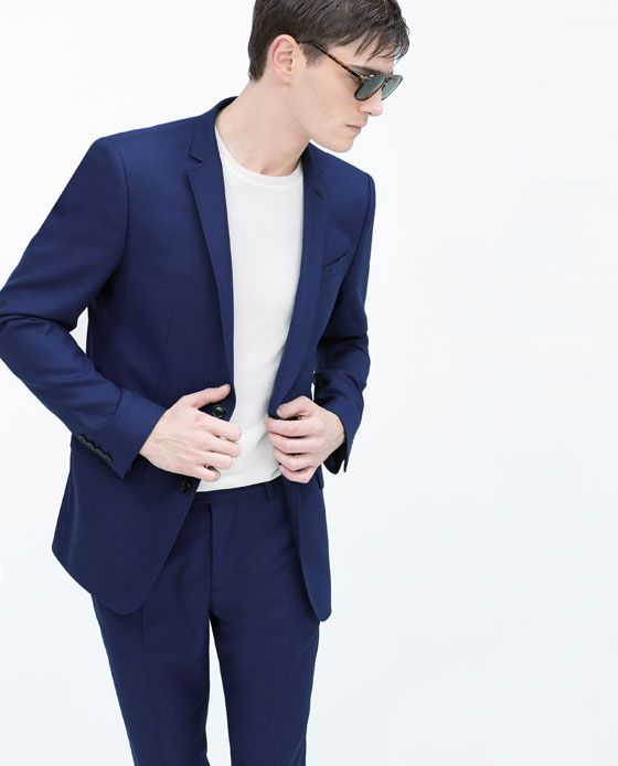 100% Calidad hermoso estilo venta limitada ZARA - MAN - BASIC ROYAL BLUE SUIT | Fresh | Traje slim fit ...