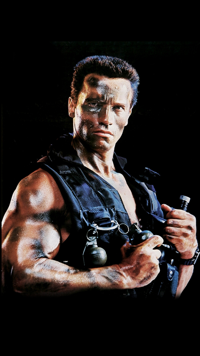 "Arnold Schwarzenegger in ""Commando""1985 