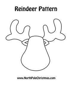 Reindeer Template Printable Besides Felt Additionally Patterns For Clip Art Christmas Crafts Also Free