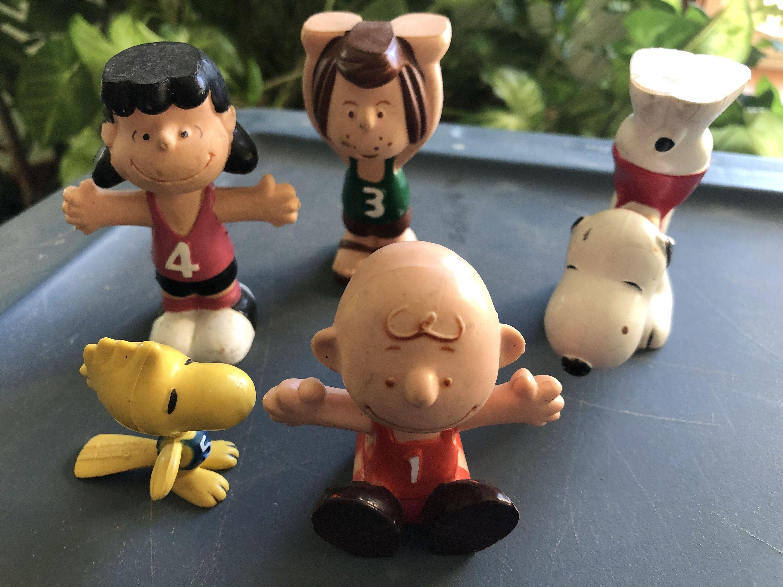 Peanuts Gang Figures Charlie Brown Lucy Peppermint Patty Etsy In 2020 Peppermint Patties Charlie Brown Peanuts Gang
