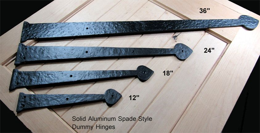 Premium Spade Decorative Hinges 3 Sizes Solid Aluminum Decorative Hinges Hinges Strap Hinges
