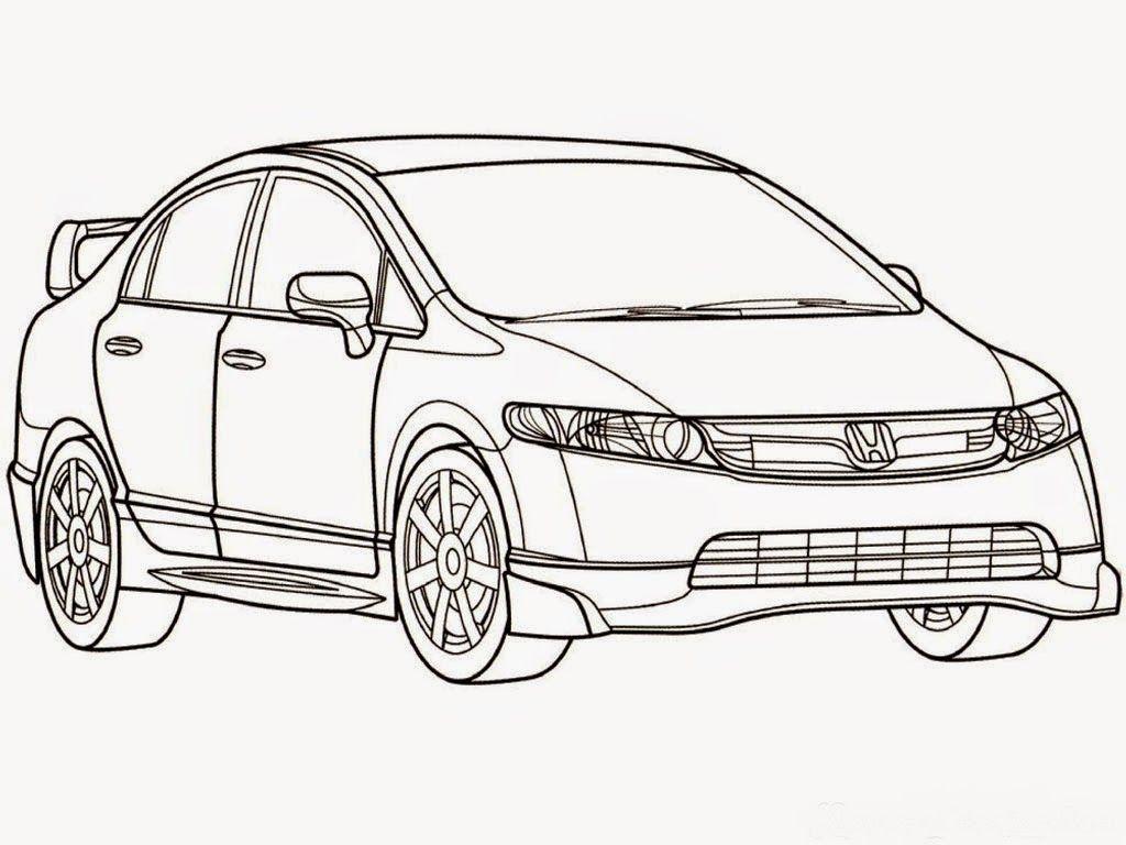 Kumpulan Gambar Hitam Putih Bw Untuk Diwarnai Freewaremini Disney Cars Mobil Animasi