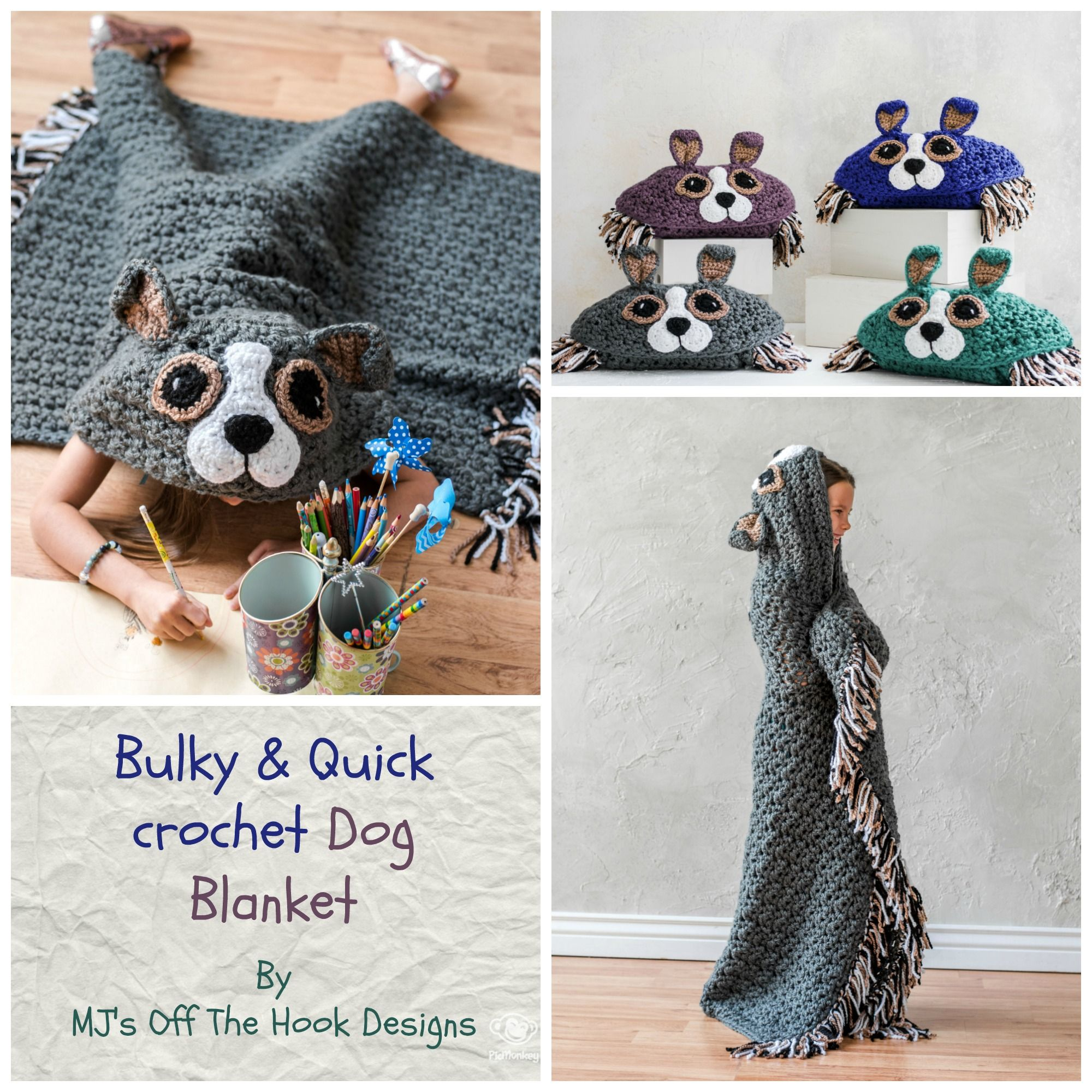 Crochet Hooded Dog Blanket | Ganchillo crochet, Manta y Leer