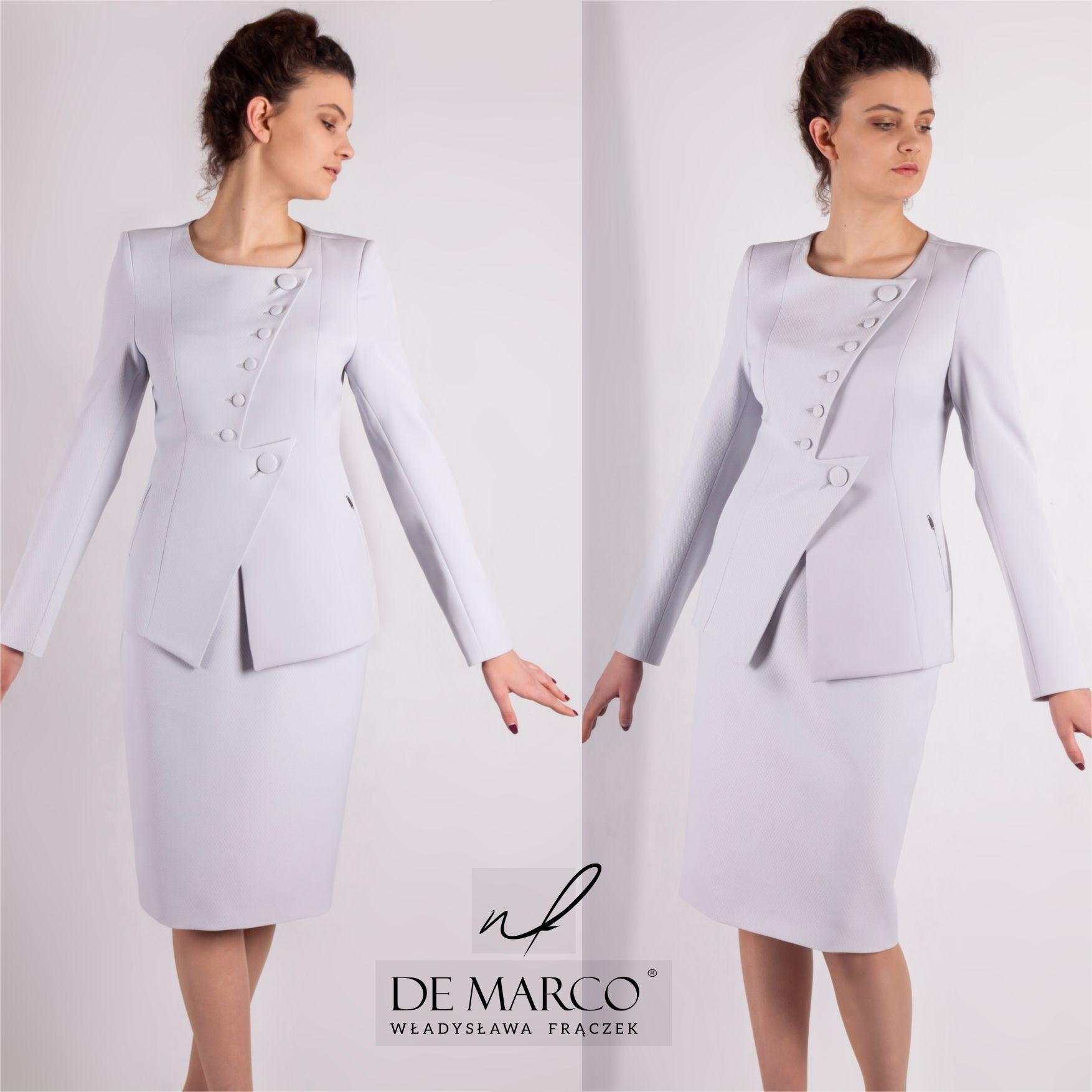 4ddcb18c67 Szalenie eleganckie kostiumy i garsonki damskie z De Marco.  demarco   frydrychowice  sukienka