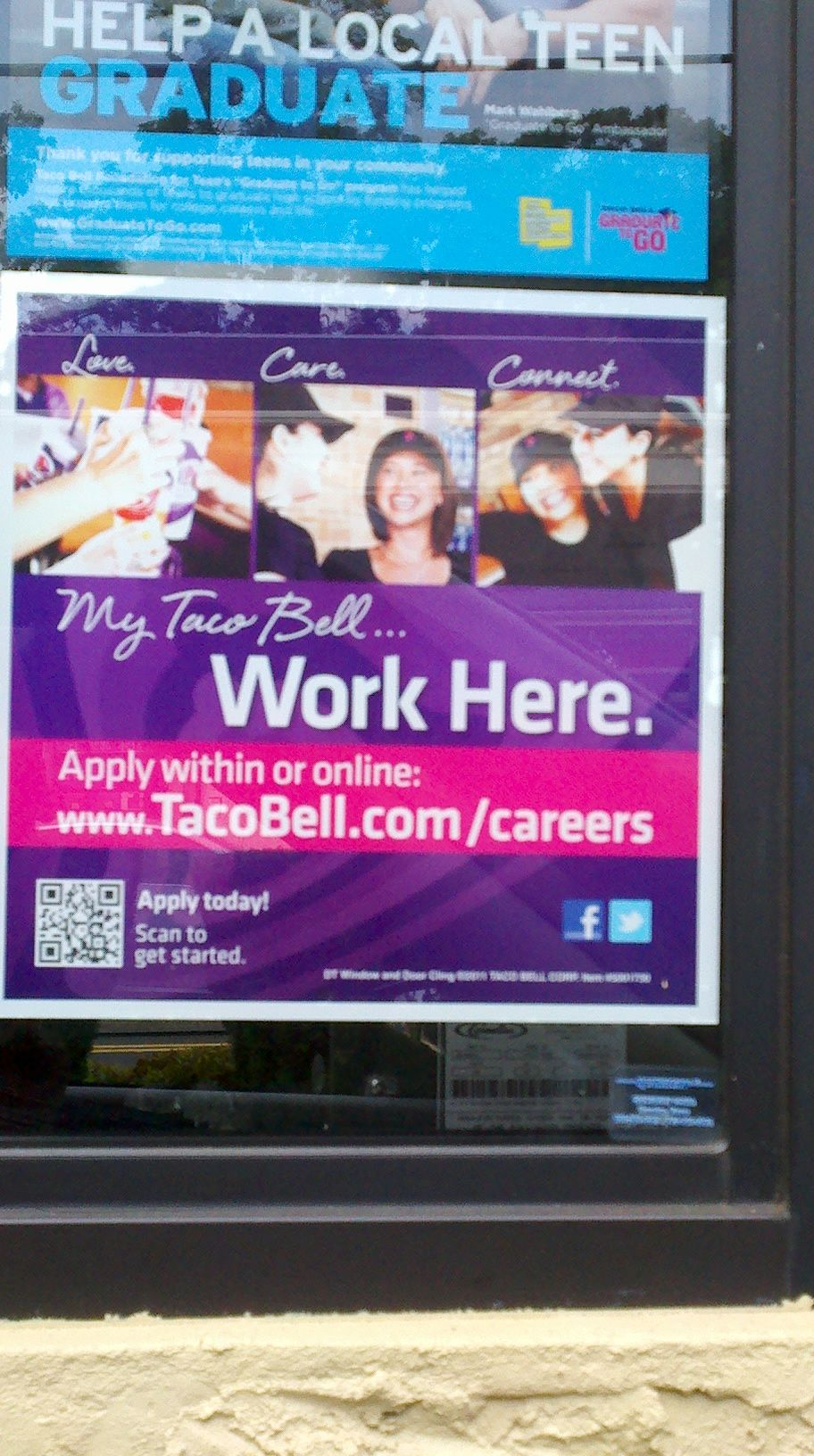 S/F Undetermined. Taco Bell using QR codes for job