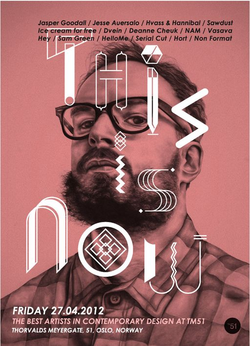 'THIS IS NOW' Exhibition | Poster - Sam Green | Illustration Studio