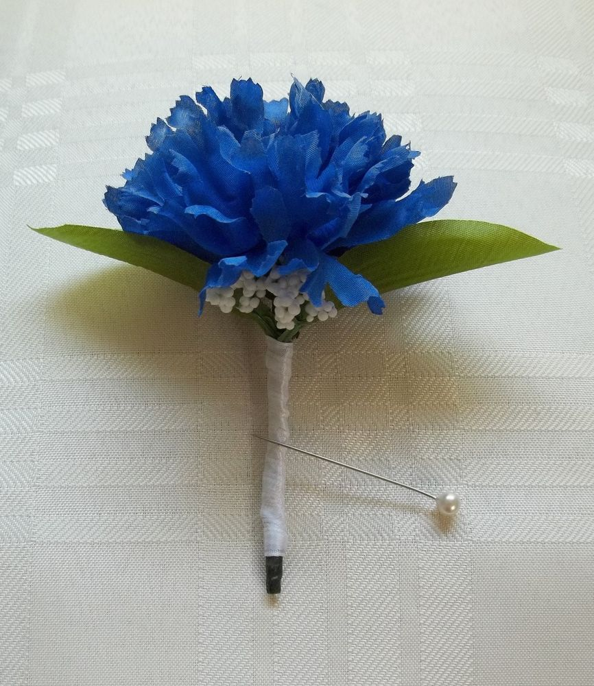 Daily Limit Exceeded Boutonniere Blue Carnations Carnations