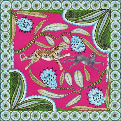 b2bd18eb1864 La Maison des Carrés Hermès   The Savana Dance   tropical ...