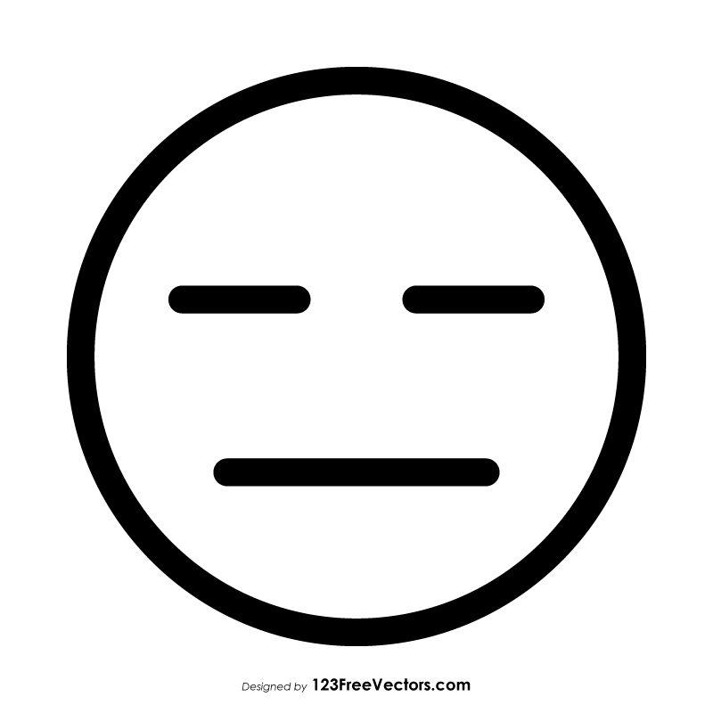 Expressionless Face Emoji Outline Emoji Coloring Pages Emoji Black Aesthetic Wallpaper