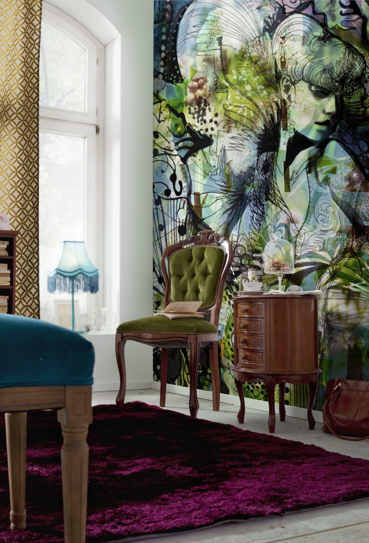 Brewster Home Fashions Komar Aphrodites Garden Wall Mural - Wayfair