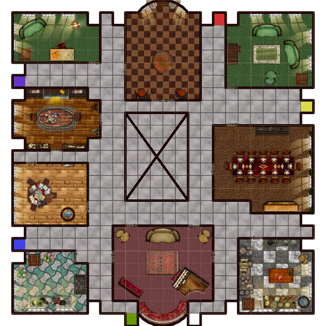 In The Process Of Turning Old Board Games Into Battle Maps Here Is Cluedo 26x26 Battlemaps Old Board Games Board Game Design Rpg Board Games