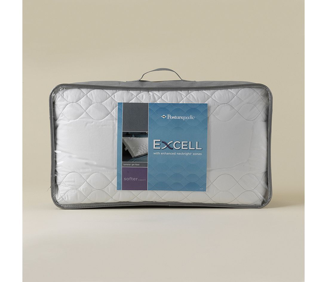 sealy posturepedic excell soft gel fiber pillow by pacific coast