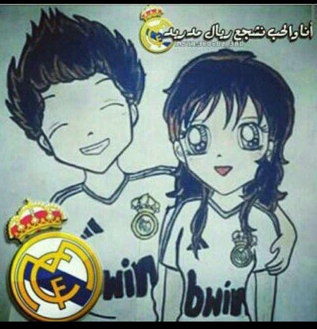 بطلت مااشجع برشلونه لخاطر الحب Real Madrid Anime Art