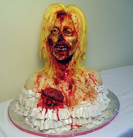 zombie cake !!! it is so cool BUT I would not be able to eat this!