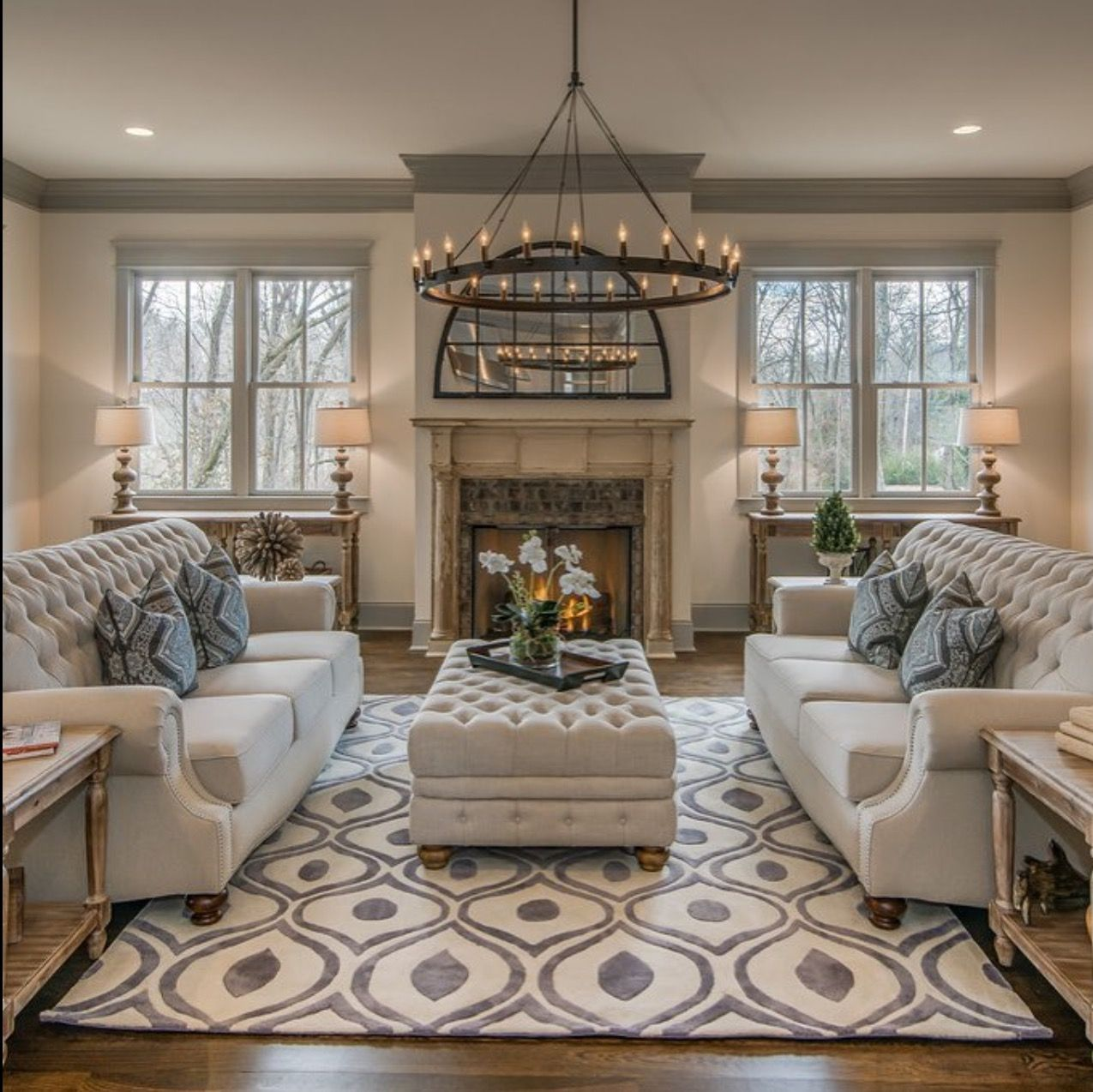 Living Room With Much Cozy Elegance Farm House Living Room Country Living Room Living Room Design Modern