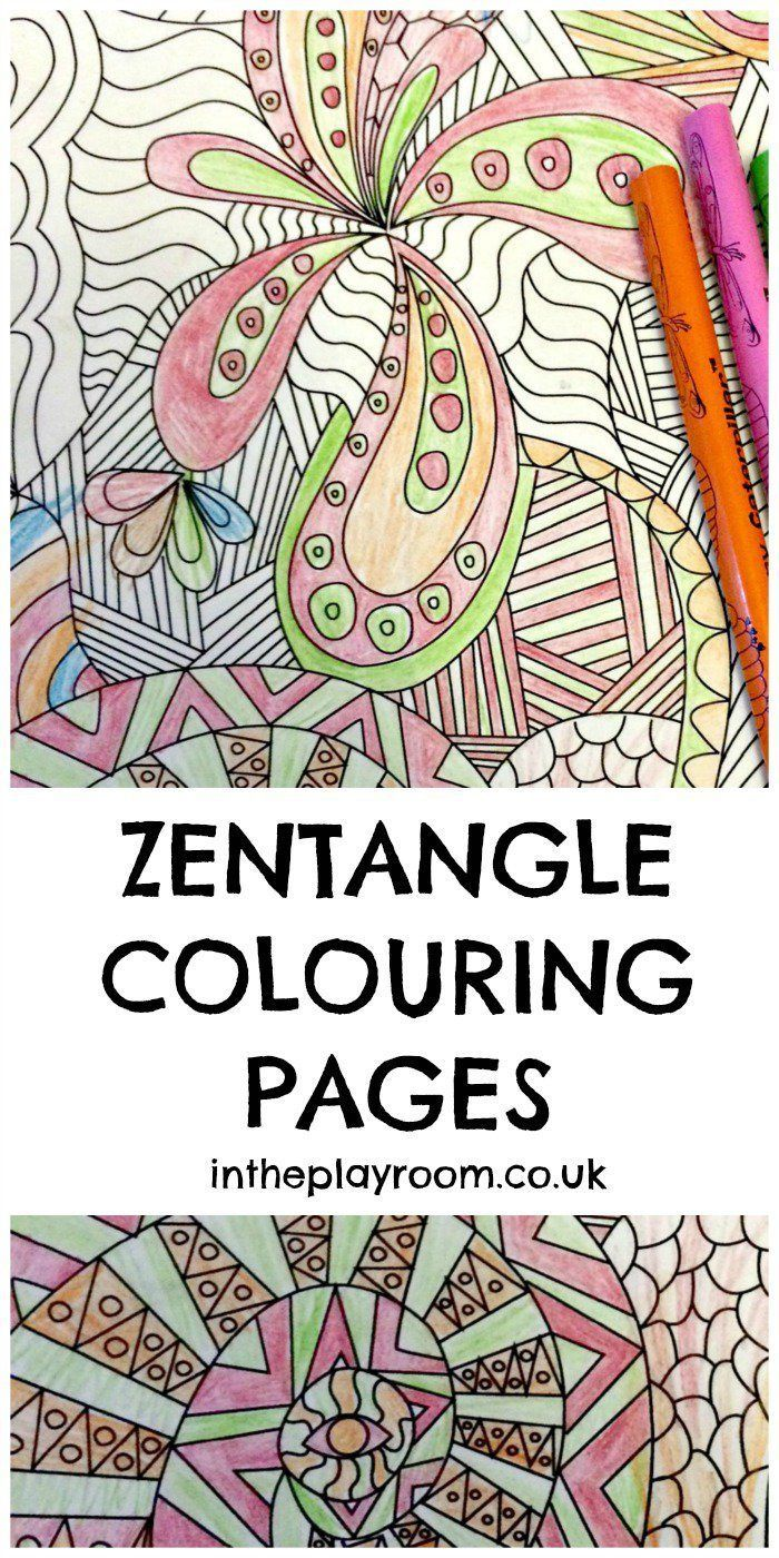 Zentangle Colouring Pages Lesson Plans Printables