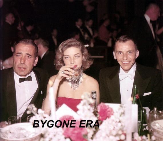 Humphrey Bogart Lauren Bacall Frank Sinatra Poster Art Photo | Etsy
