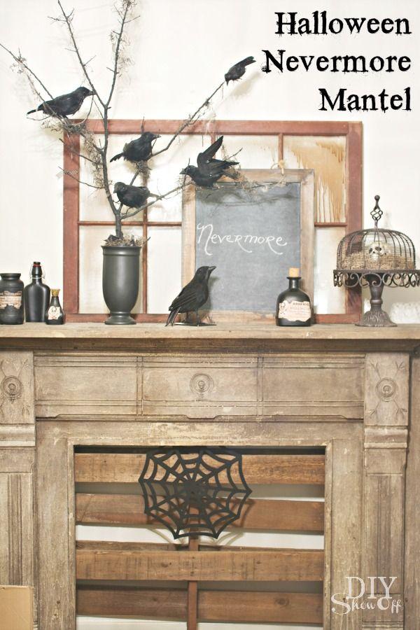 DIY Show Off halloween Pinterest Halloween mantel, Halloween