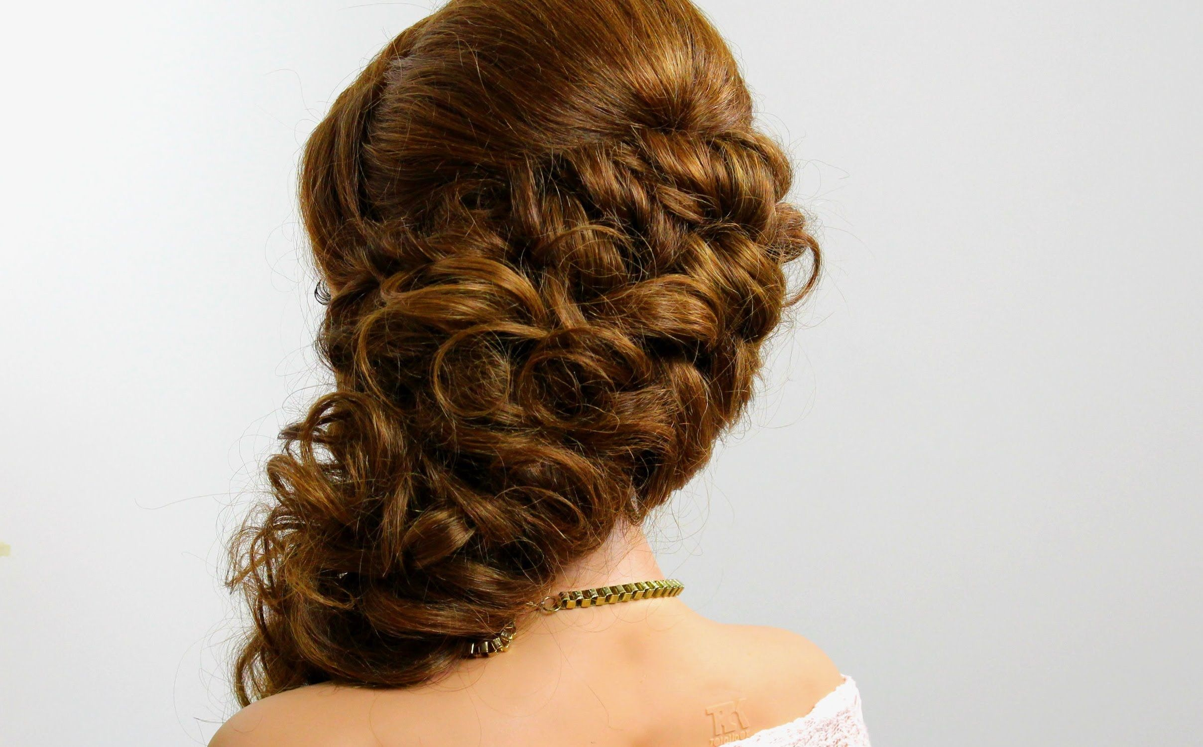 Bridal prom hairstyle for long hair braids womanbeauty and