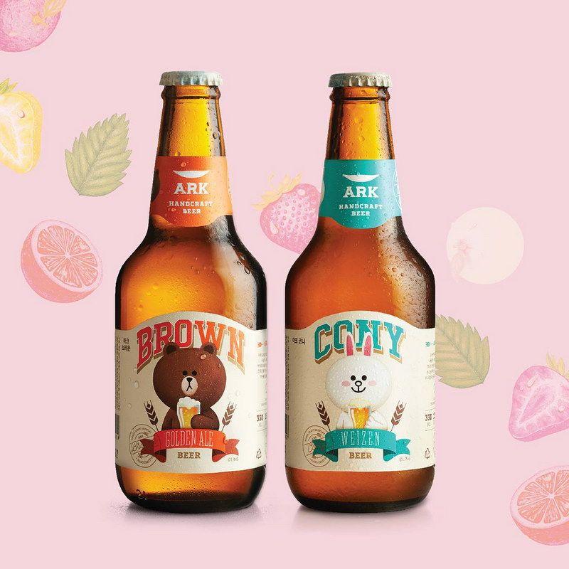 Ark-beer-cony-brown-line-เบียร์.jpg (800×800)