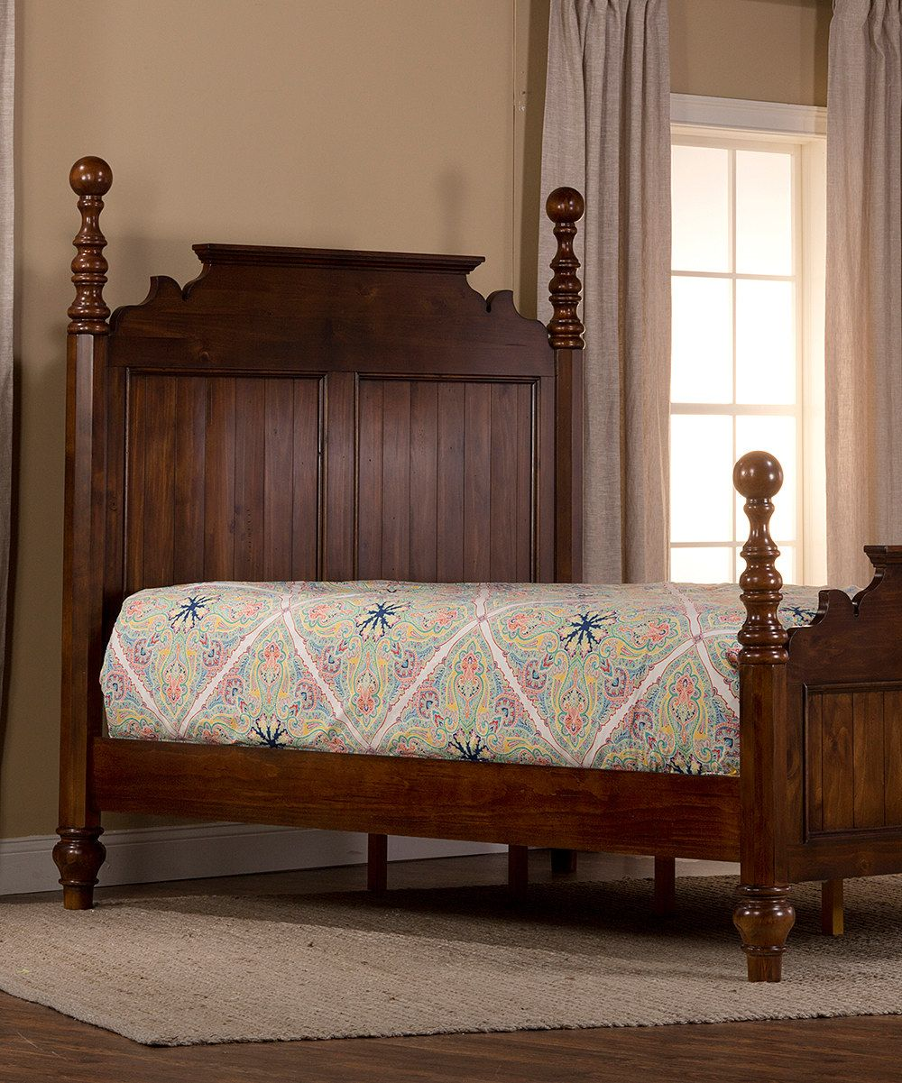 Look at this Dark Pine Island Post Queen Bed on zulily