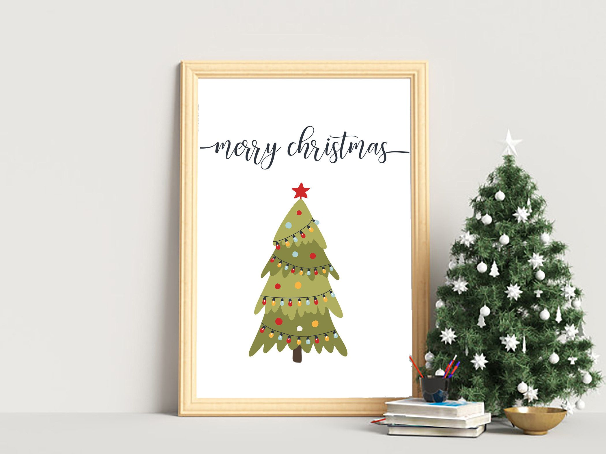 Christmas Tree Wall Art Digital Download Merry Christmas Print Christmas Tree Print Printable Wall Art E Christmas Wall Art Tree Wall Art Christmas Prints