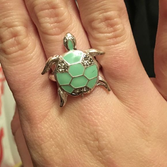 Turtle ring Turquoise turtle ring Jewelry Rings