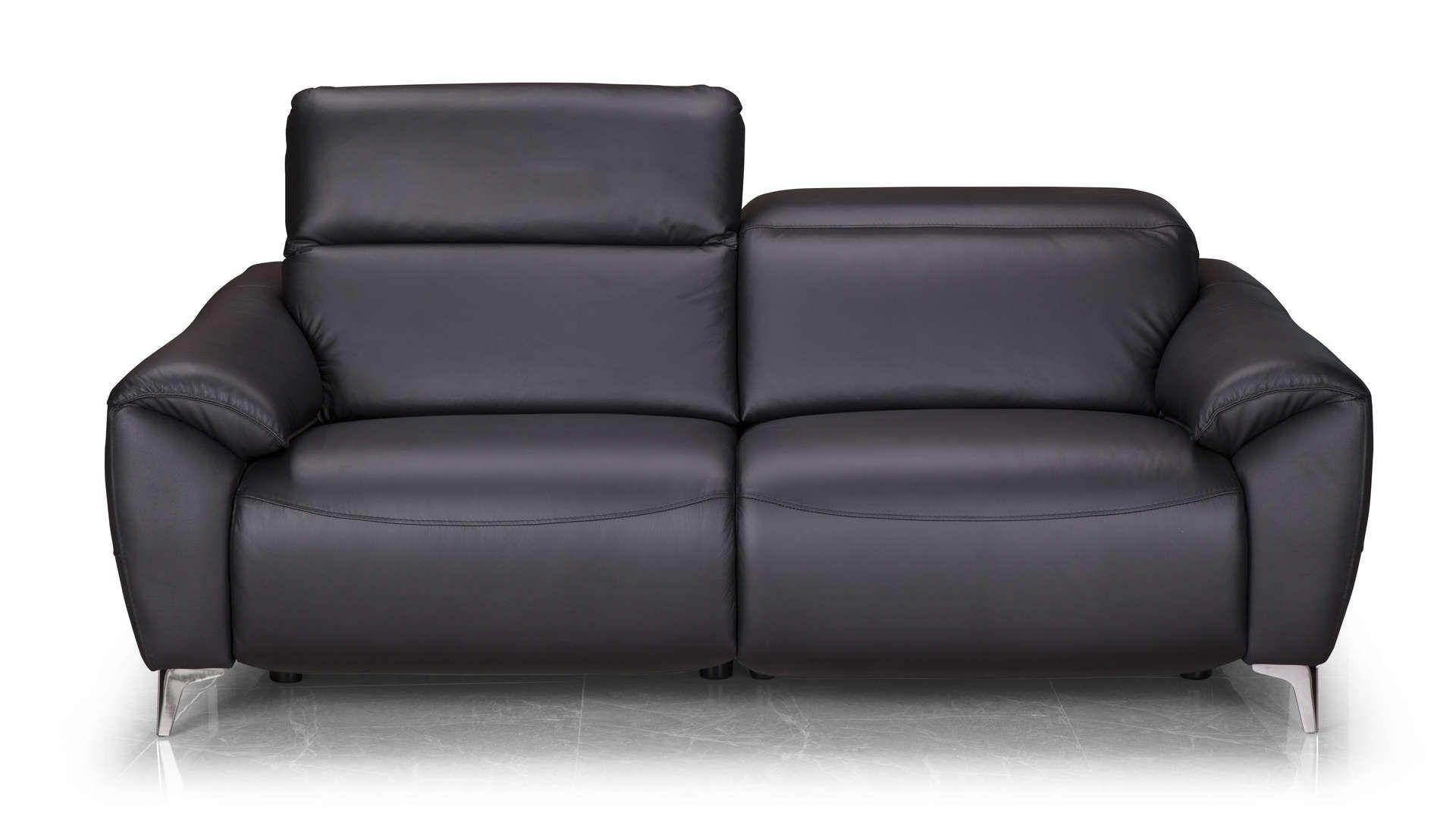 Canape Relaxation Electrique 3 Places En Cuir Bristol Coloris Noir Canape Canape Relax Canape Droit