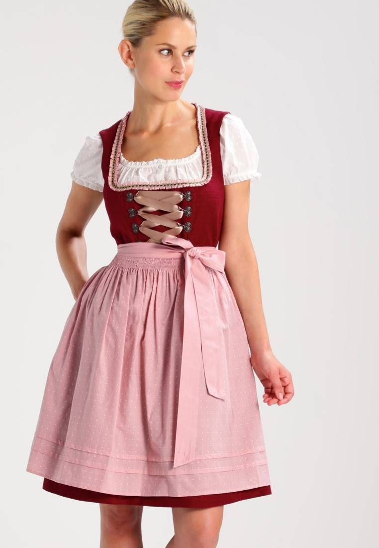 good quality sale cheapest STRUCTURED WIESN - Dirndl - bordeaux red | Zalando ...