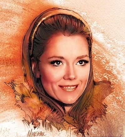 Diana Rigg as Tracy in OHMSS by Jeff Marshall