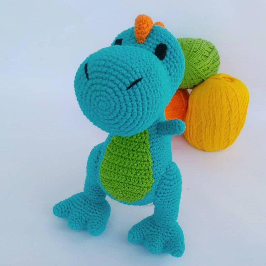 Rex crochet pattern - Free Pattern | Crochet dinosaur patterns ... | 1024x1024