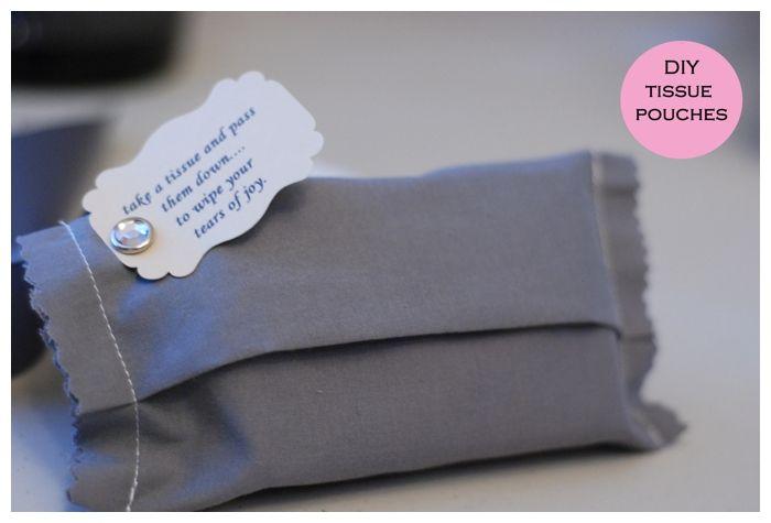 Diy Tissue Pouch For Tears Of Joy Wedding Reception Bridal