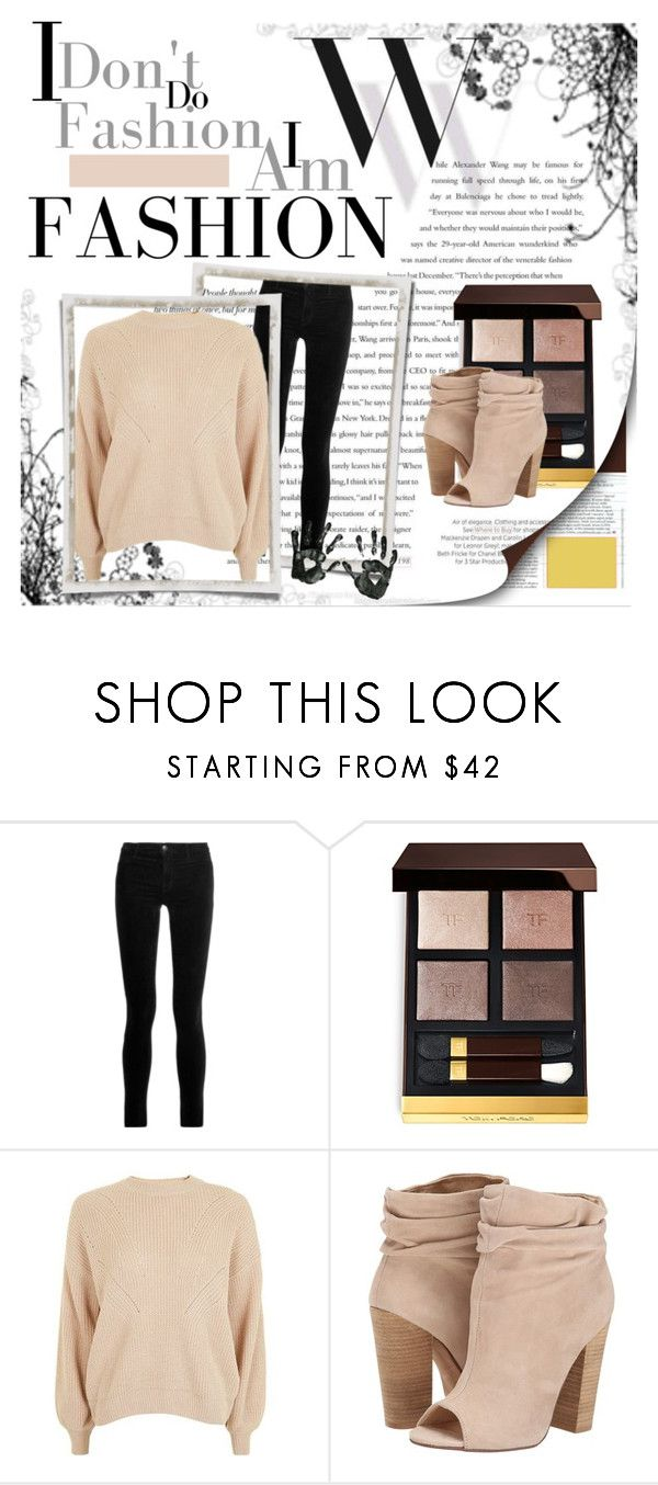 """""""nudes"""" by armsdani ❤ liked on Polyvore featuring Balenciaga, J Brand, Tom Ford, Topshop and Chinese Laundry"""