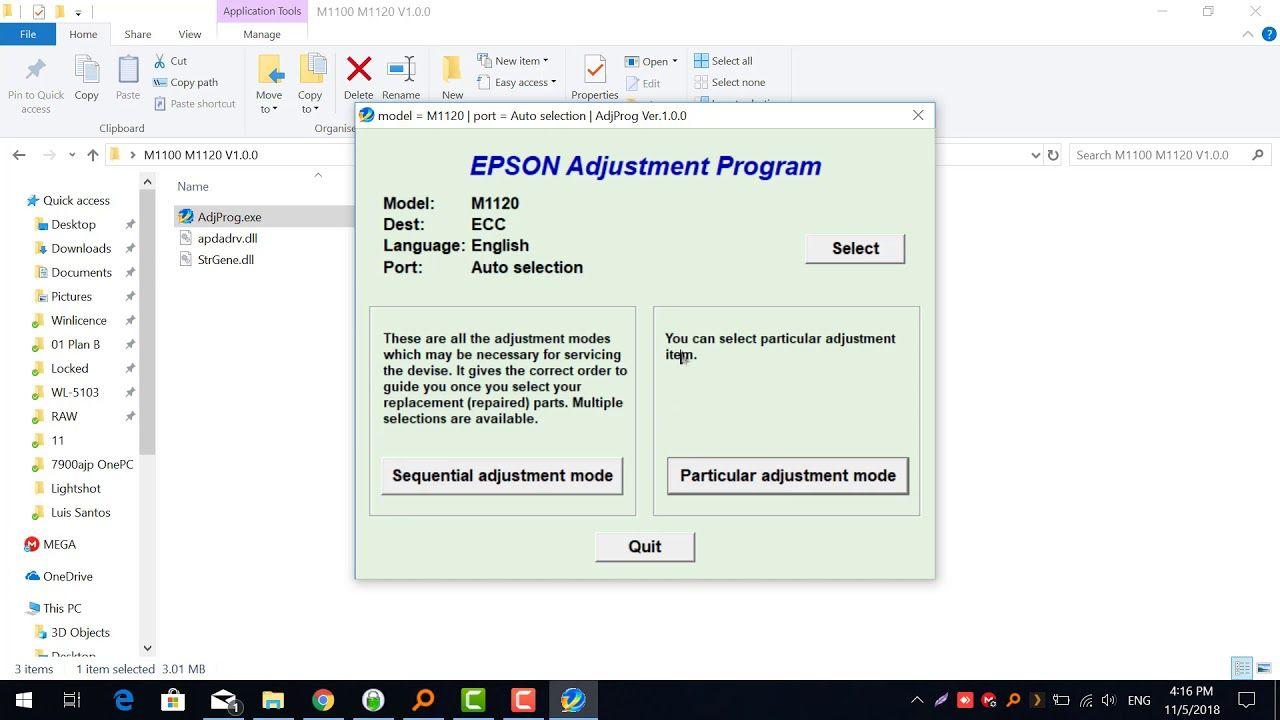 how to crack epson l380 adjustment program