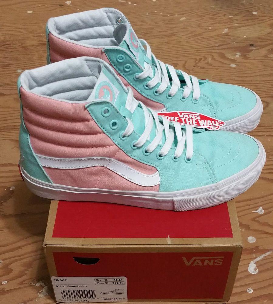 d657460d54fb VANS X Golf Wang CFG Peach Sk-8 Hi Size 9 supreme tyler creator  Vans   Skateboarding