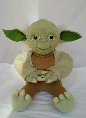 Disney Star Wars Yoda Plush 18 Stuffed Animal Toy Removable Cloak