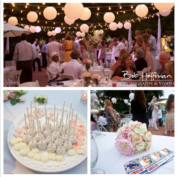 pretty wedding reception at the Darlington House, super cute lighting and cake pops! www.hoffmanweddings.com