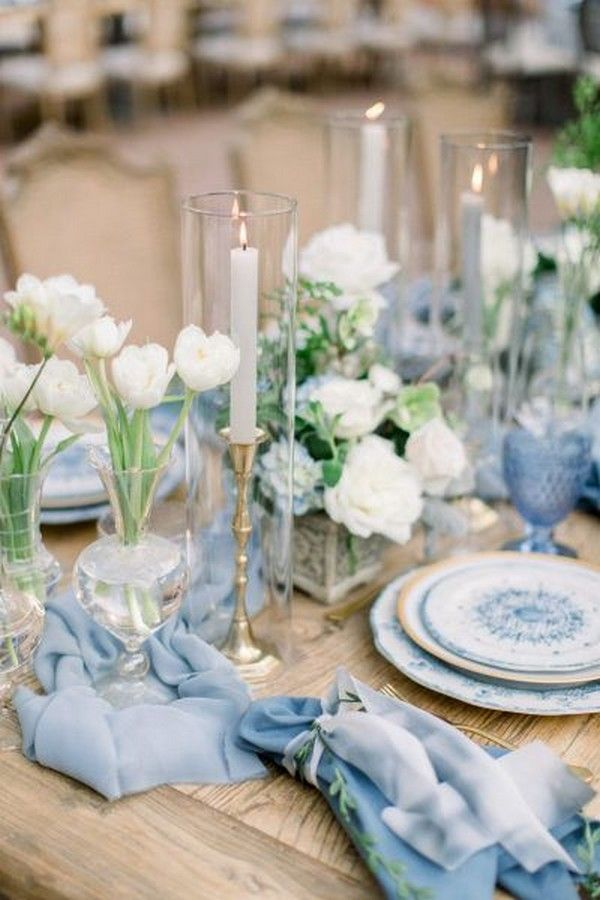 20 Spring Summer Light Blue and Green Wedding Colors