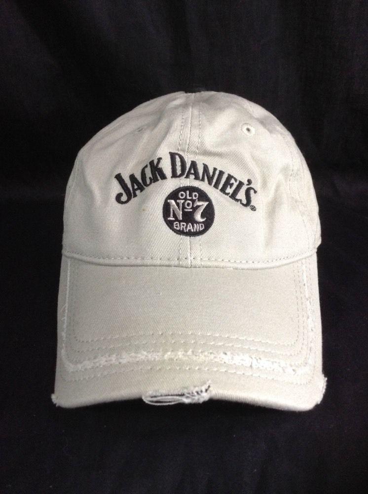 d04dfd96aee Jack Daniels Hat Factory Distressed Baseball Style Strapback Cap Old no 7  Beige  JackDaniels  BaseballCap