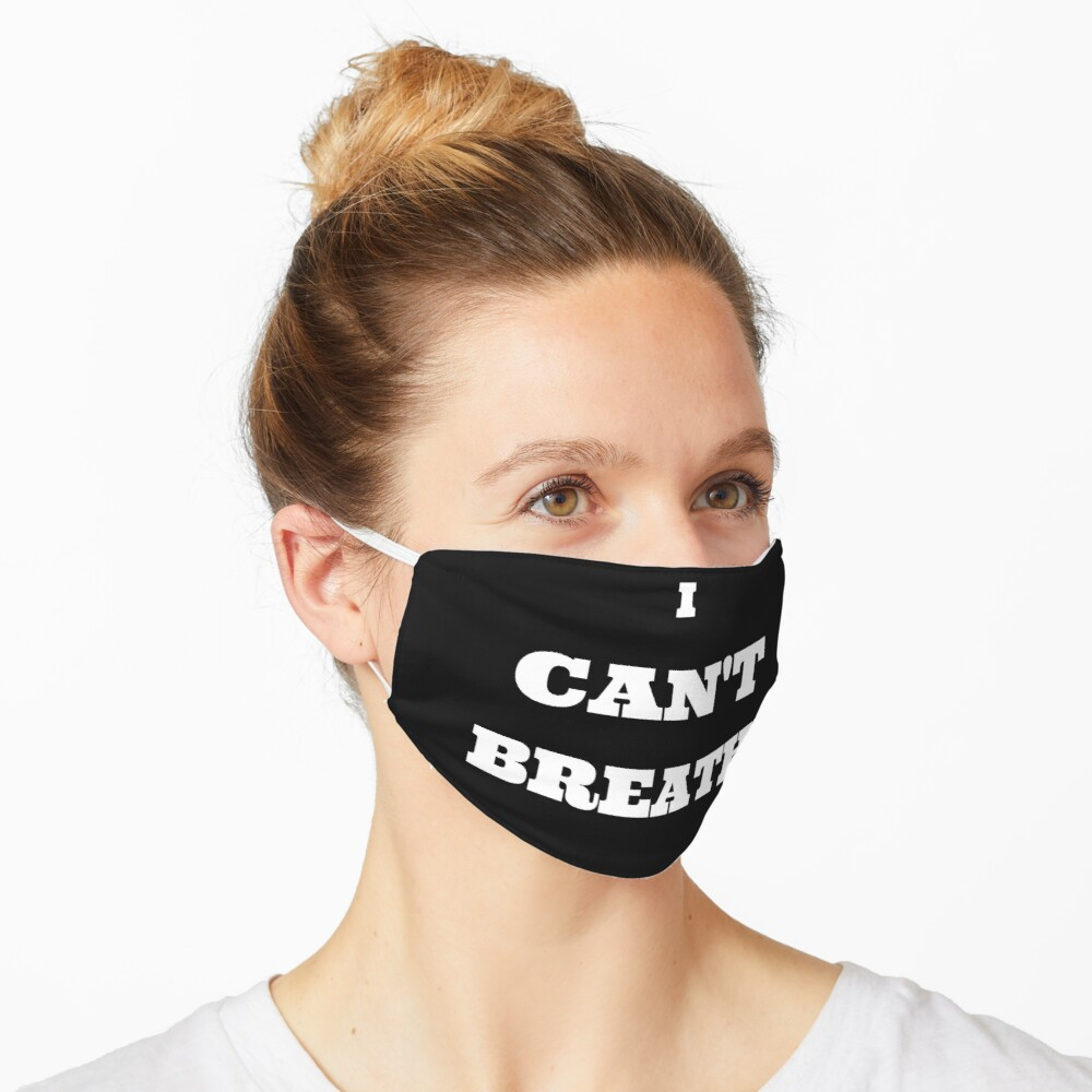 'I Can't Breathe' Mask by Wilnze in 2020 Mask, Funny