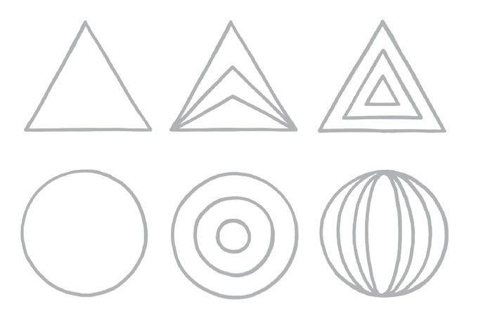 Formenzeichnen - Geometrische Formen PDF | Pinterest | Tired