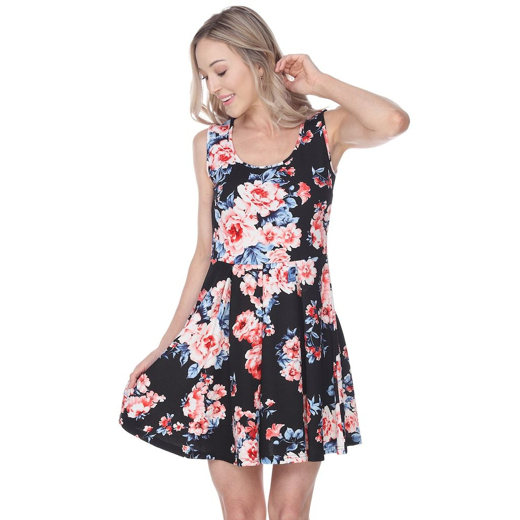 98d7d24235b Women's White Mark Floral Fit & Flare Dress, Size: XL, Oxford in ...