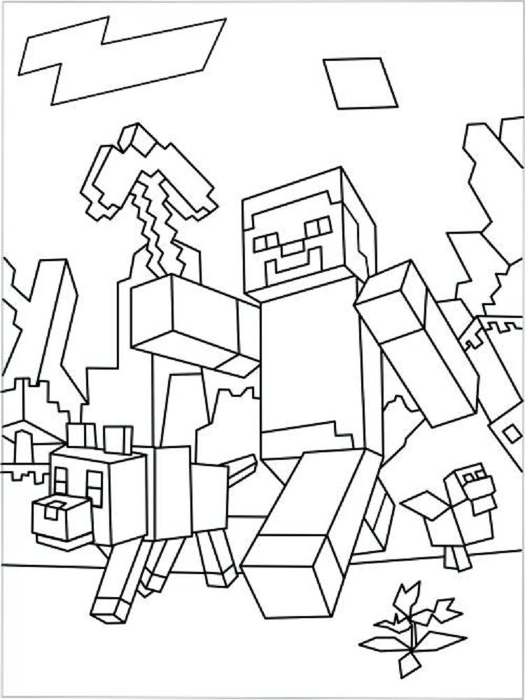 Minecraft Hunger Games Coloring Pages Coloring Pages For Kids
