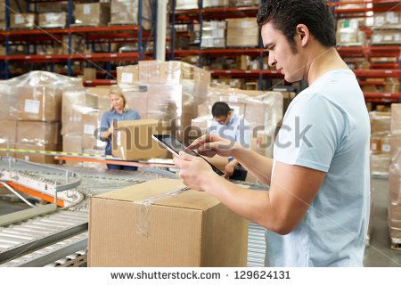 Stock Images similar to ID 144466102 - workers in warehouse preparing...